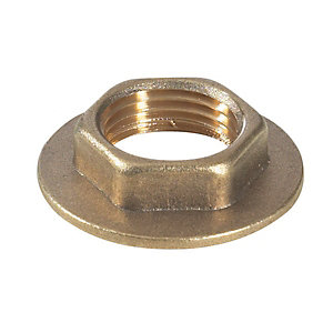 Brass Flanged Backnut 1in