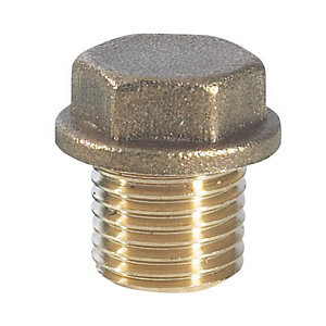 Brass Flanged Plug 1/2in