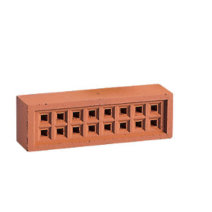 Hepworth Square Hole Airbrick 215 x 65mm Red YA13R