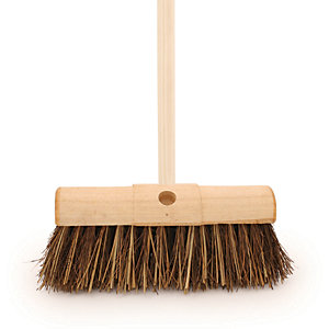 4Trade Bassine/Cane Yard Broom 13 inch With 54in Handle