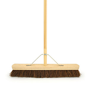 4Trade Soft 4' Bassine Broom With Metal Support Bracket With Handle 610mm