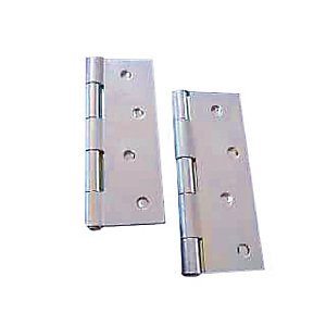 4Trade Butt Hinge Zinc Plated 100mm Pack of 2
