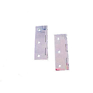 4Trade Double Steel Washered Butt Hinge Chrome Plated 102 x 70mm Pack of 2