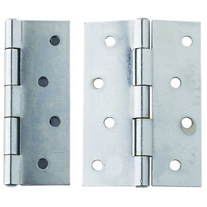 4Trade Fixed Pin Butt Hinge Stainless Steel 75mm Pack of 2