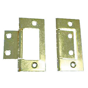 4Trade Flush Hinge Electro Brass 50mm Pack of 2
