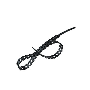 Rapstrap Ties Consumer DIY Black Pack 24