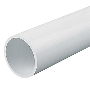 Marshall-Tufflex Heavy Gauge Round Conduit White 38mm x 3000mm