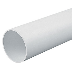 Marshall-Tufflex Light Gauge Round Conduit White 25mm x 3000mm