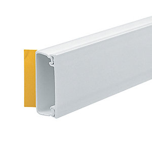 Marshall-Tufflex Self Fix Trunking White 38mm x 16mm x 3000mm