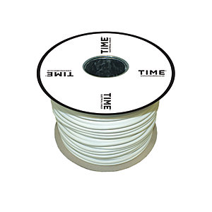 Pitacs 0.75mm² 3 Core Round Flexible Cable 3183Y White 100m