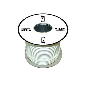 Pitacs 0.75mm² 5 Core Heat Resistant Flexible Cable 3095Y White 50m