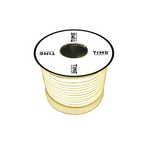 Pitacs 1.5mm² 3 Core Heat Resistant Butyl Flexible Cable 3183TQ White 50m