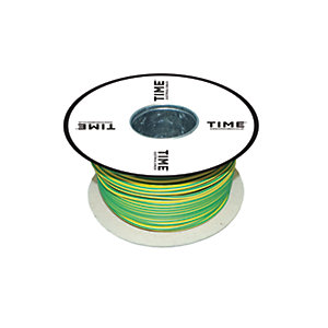Pitacs 2.5mm² Single Core Conduit Wiring 6491X Green/Yellow 100m