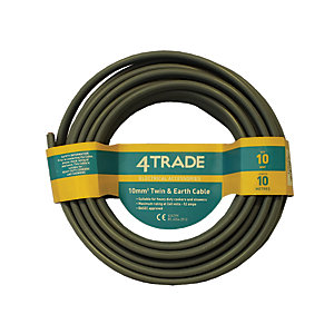 4Trade Twin & Earth Cable Grey 10.0mm x 10m 6242Y