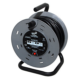 Smj Heavy Duty Cable Reel 13A 25m 4 Socket with Thermal Cut Out
