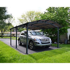 Palram Arcadia Polycarbonate Freestanding Carport Grey - 3620 x 5020 mm