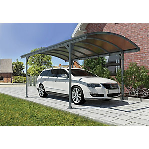 Palram Vitoria Polycarbonate Freestanding Carport Grey - 2910 x 5010 mm