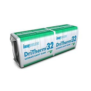 Knauf Earthwool DriTherm Cavity Slab 32 Ultimate 100mm 1200mm x 455mm (3.28m²/Pack)