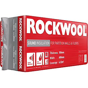 Rockwool Sound Insulation Slab 100mm (4.32m²)