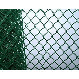 green plastic coated chainlink fence 50mm x 900mm x 315mm x 25m