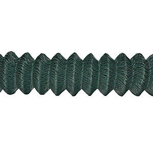 4Trade Green Plastic Coated Chainlink Fence 25m x 1800mm x 50mm x 2.5mm