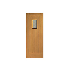 Chancery Fully Finished Oak Doorset Left Hand Opening in