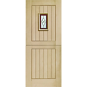 Chancery Oak Veneer Stable Triple Glazed External Door