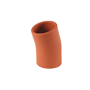 Hepworth SuperSleve HouseDrain Bend Plain Ended 100mm x 15 Degree SB4/1