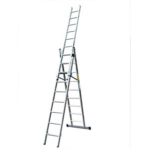 Lyte Professional Combination Ladder 2.69m - 6.10m 9 Rung EN131