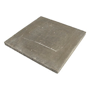 BSS Pressed Concrete Slab Natural 600mm x 600mm x 38mm Pack of 25