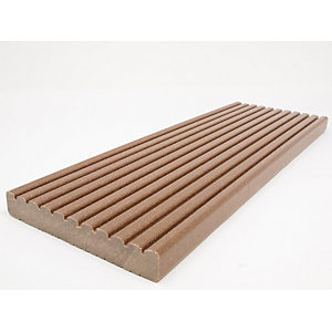 Ecodek Grooved Advanced Technology Reversible Composite Decking Board 21 x 136 x 3600mm Light Brown