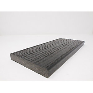 Ecodek Heritage Wood Grained Composite Decking Board 21 x 136 x 3600mm Black