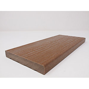 Ecodek Heritage Wood Grained Composite Decking Board 21 x 136 x 3600mm Light Brown