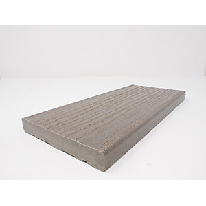 Ecodek Heritage Wood Grained Composite Decking Board 21 x 136 x 3600mm Pebble Grey
