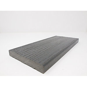 Ecodek Heritage Wood Grained Composite Decking Board 21 x 136 x 3600mm Slate Grey