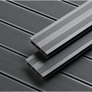 Upm Profi Terra Composite Decking Board 28mm x 128mm x 3100mm Grey