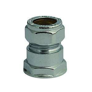 Compression Chrome Straight Coupling Fi 12mm x 15mm