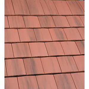 Marley Ashmore Interlocking Double Plain Roofing Tile Old English Dark Red