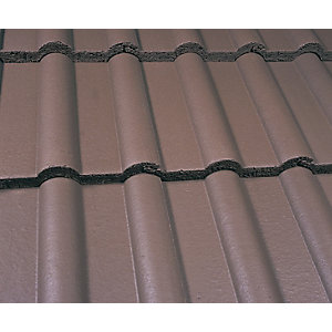 Marley Double Roman Roofing Tile Smooth Brown