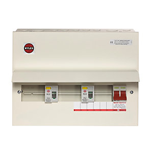 Wylex NMRS10SSLMHI 10WAY Flexible High Integrity Consumer Unit 100A Main + Dual 80A RCD Metal