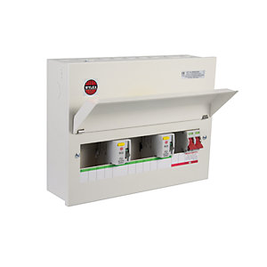 Wylex NMRS44206L 10WAY High Integrity Consumer Unit 4+4+2 100A Main + Dual 80A RCD Metal