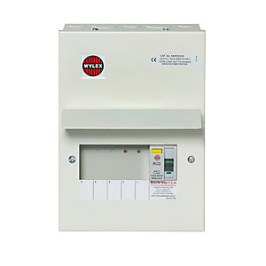 Wylex NMRS506L 5WAY Consumer Unit 100A Main Metal