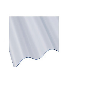 Ariel Vistalux 3 Inch Standard Light Weight Corrugated PVC Sheet 10 x 0.8mm 30 inch