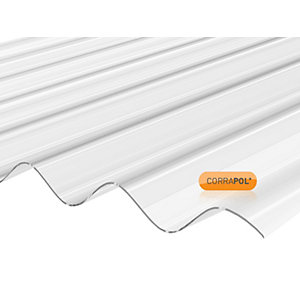 Corrapol Clear Corrugated Sheet 840mm x 3660mm