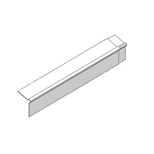 Marley Eternit External Bargeboard 200mm Wing x 3000mm Length Natural Grey Colour