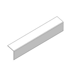 Marley Eternit External Corner Bargeboard 200mm Wing x 2440mm Length Natural Grey