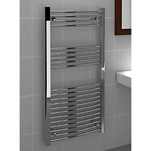Curved Chrome Towel Rail 1200mm