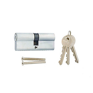 4Trade 6 Pin Euro Cylinder Lock 40/40mm Satin