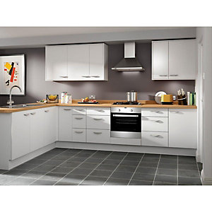 Dakota Matt White 8 Unit Kitchen Range