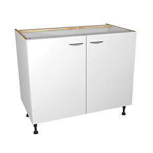 Dakota Matt White Kitchen Base Unit 1000mm